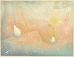 川井 木綿 / KAWAI yu : 春の夜明け 45.5×60.6 木版