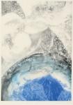 """いしだふみ / ISHIDA fumy : 間""""Time & Space""""Ⅳ 84×60 銅版・ポリマー版"""