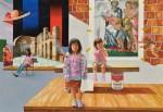 安田 克己 / YASUDA katsumi : スタジオの夢B P100 油彩