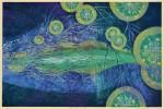 吉沢 敏之 / YOSHIZAWA toshiyuki : 燐光の銀河 60×91 木版