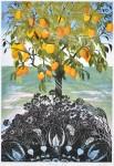 片岡 啓子 / KATAOKA keiko : Potager 島Ⅳ 102.5×81.5 木版