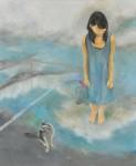 安田 祐子 / YASUDA yuko : 歪んだ影と白い風 F130 油彩