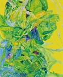 室町 克代 / MUROMACHI katsuyo : 青菜 F130 ミクストメディア