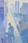 青柳 京子 / AOYAGI kyoko : 都会の憂鬱Ⅳ F120 油彩