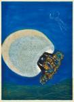 池田由紀子 / IKEDA yukiko : Live in the Ocean Ⅲ 84×60 木版