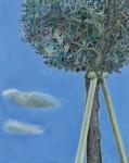 山本 弘子 / YAMAMOTO hiroko : 「病める樹」と雲 F100 油彩
