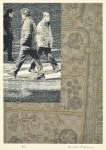 真木 欣一 / MAKI kinichi : 古地図を行く2 90×70 デジタルプリント・編み
