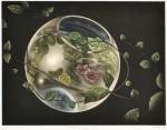 三浦やほ子 / MIURA yahoko : crystal planet-Ⅰ 27×36 銅版・メゾチント