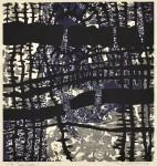 田中 洋子 / TANAKA yoko : Poem indigo 5 64×60 木版