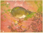 工藤美代子/KUDO miyoko: 野良猫10 45.5×60.5 木版