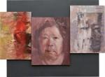 ヤダ ハルミ/YADA harumi:自画像 162×200 油彩・ミクストメディア・ジェッソ・パステル・ペンキ