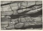 松田 洋子/MATSUDA yoko:岩棚 36.5×52 銅版