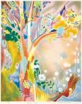竹内 美穂子/TAKEUCHI mihoko:Spring view 56×45 平版