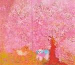 岩渕 ケイ子/IWABUCHI keiko:咲く花の中に 190×230 油彩