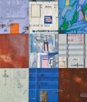 奥村 靖子/OKUMURA yasuko:AROUND THE WORLD 160×140 油彩・アクリル