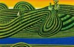 坂田 和之/SAKATA kazuyuki:風船唐綿との景 M150 油彩