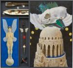 佐藤 勤/SATO tsutomu:アンドロイドの夢 193.9×206.5 ミクストメディア・テンペラ・油彩・混合