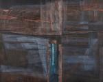 杉藤 哲正/SUGITO tetsumasa:赤と黒の景 F100 油彩