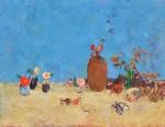 矢野 素直/YANO sunao:壷の枯れ花と椿 F80 油彩