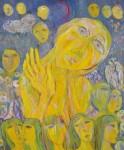 山中 眞寿子/YAMANAKA masuko:かたむける-月蝕- F130 油彩