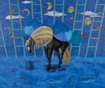 山本 睦/YAMAMOTO mutsumi:世界風景-月光 F130 油彩