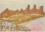 田中 令子/TANAKA reiko:Pergamonの城塞 39×55 木版