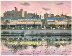 中山 岳美/NAKAYAMA takeyoshi:鴨川夏の夕暮れ 45×58 平版