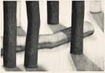 内山 良子/UCHIYAMA ryoko:雪解けの朝 79×54.5 木版