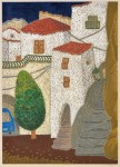 杉谷 千速/SUGITANI chihaya:家々の石段 69×50 木版