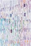 持田 美保/MOCHIDA miho:ホワイトNO.1 79.5×54.5 木版・スタンプ