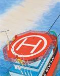 能戸 康次 /NOTO koji:うねりに同期して揺れる船上ヘリポートⅡ F100 水彩