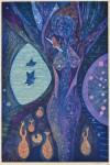 吉沢 敏之/YOSHIZAWA toshiyuki:樹洞の精 91×60 木版