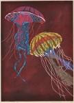池田 由紀子/IKEDA yukiko:Live in the Ocean XIII 84×60 木版