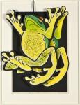 成田 郷子/NARITA kyoko:表裏一体 かえる 85×56 木版