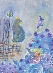 田谷 美佐子/TAYA misako:庭の片隅で 78×59 木版