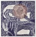 田中 洋子/TANAKA yoko:Poem indigo 10 64×60 木版