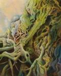 大澤 俊一 /OSAWA toshikazu:巨樹に潜む仮面 F100 油彩