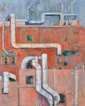 木村 典子/KIMURA noriko:ダクトのある風景 F100 油彩