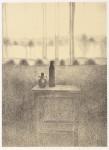 中畝 かほる/NAKAUNE kaoru:小さなテーブル・18-1S 59.5×43 平版・石版・雁皮刷り