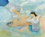 安田 祐子 /YASUDA yuko:肩にのこる声 F130 油彩