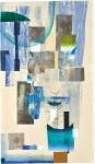 ウチダヨシエ/UCHIDA yoshie:Landscape(序曲) 115×66 木版・孔版・ドライポイント