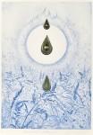 竹田 智美/TAKEDA satomi:生まれ生づる哀しみ(不可視なるものの内に) 36×25.5 銅版・エングレーヴィング・金属コラージュ