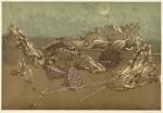 森島 勇/MORISHIMA isamu:池の端の冬 58×86 木版