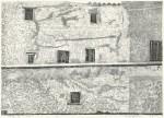 大坂 忠司/OSAKA tadashi:城壁の家 28×40 木版