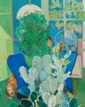 赤井 由紀/AKAI yuki:私と青いイス F100 油彩