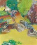 星野 文和/HOSHINO fumikazu:草地の午後 F130 油彩