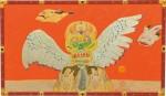 峰 丘/MINE oka:生誕90年 三日月の夜はオレンジ色 変100 ミクストメディア