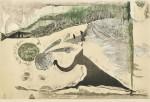 務川めぐみ/MUKAWA megumi:道草を喰む 70×100 木版