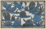 林 和一/HAYASHI waichi:金環蝕(Ⅰ) 51×83 木版