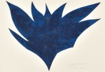 鈴木 雅弘/SUZUKI masahiro:cut of form,Blue flower 52×70 凸版